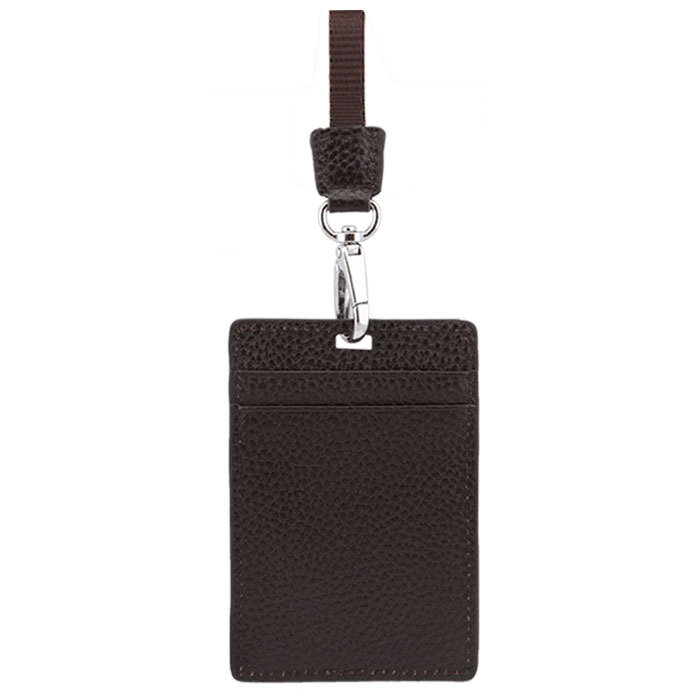 Leather ID Card holder with Lanyard