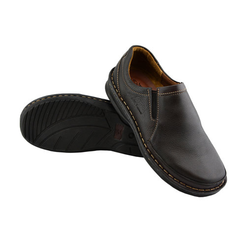 Handmade Leather Loafer Shoes(Dark Brown)