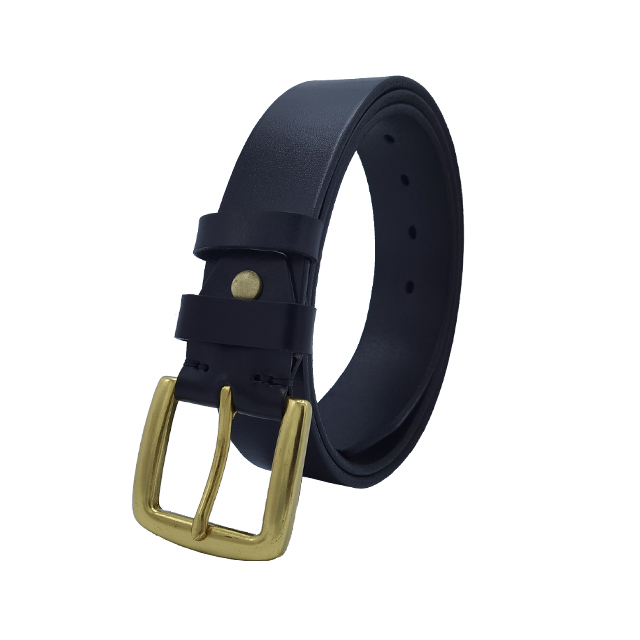 Leather Belt with Bronze Buckle (40mm)