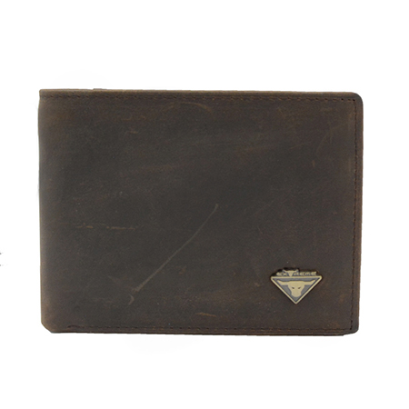 Leather Bifold Wallet With Mid Flip (H9.0 X 11CM)