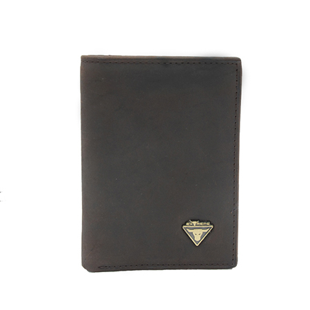 Leather Bifold Wallet With Mid Flip (H10.5 X 8.6 CM)