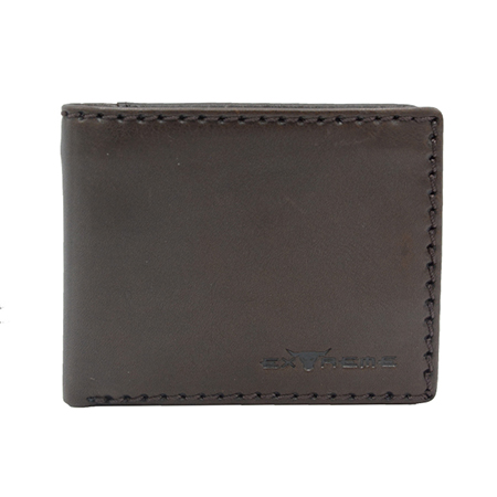 Leather Bifold Wallet With Mid Flip (H 9 X 11 CM)