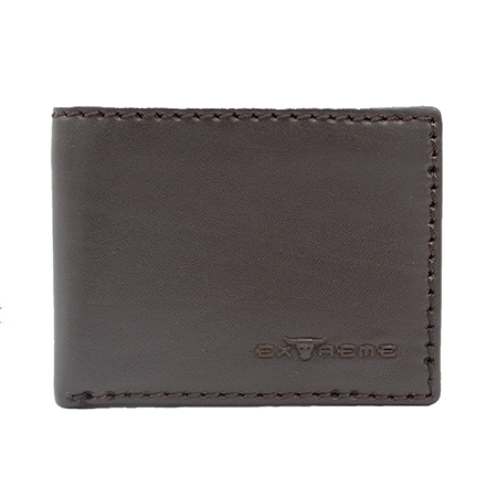 Leather Bifold Wallet With Mid Flip (H8.8 X L11CM)