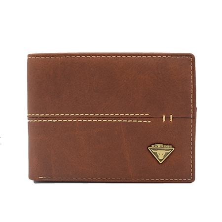 Leather Bifold Wallet With Mid Flip