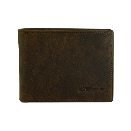 Leather Short Wallet with Mid Flap (19 Slots)