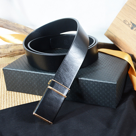 Extreme Classic 35mm Leather Plaque Buckle Belt