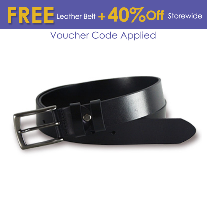 Pin Buckle Leather Belt