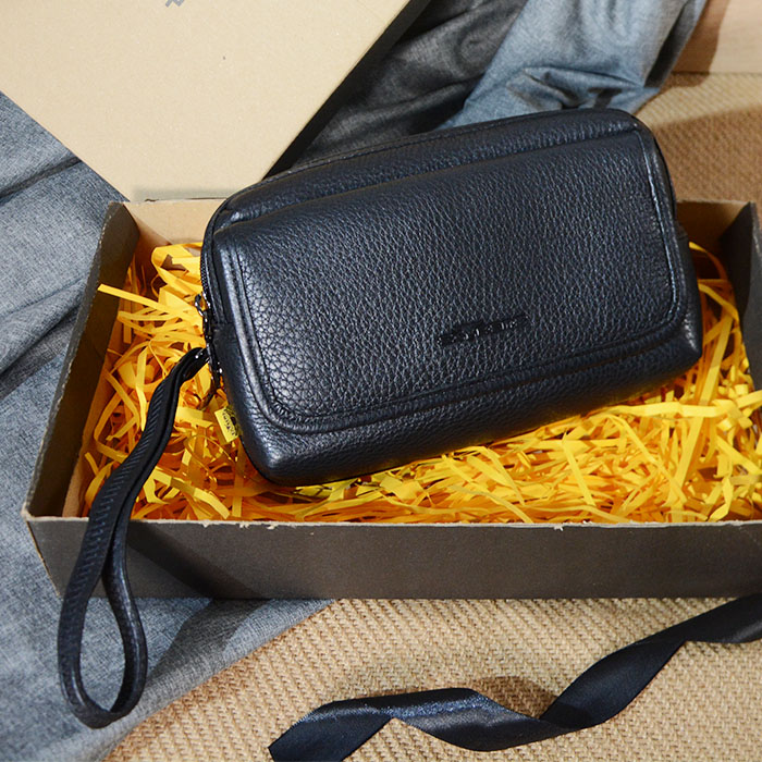 Leather Clutch Bag c/w Gift Box