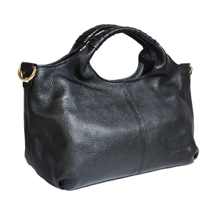 Leather Semi Hobo Bag