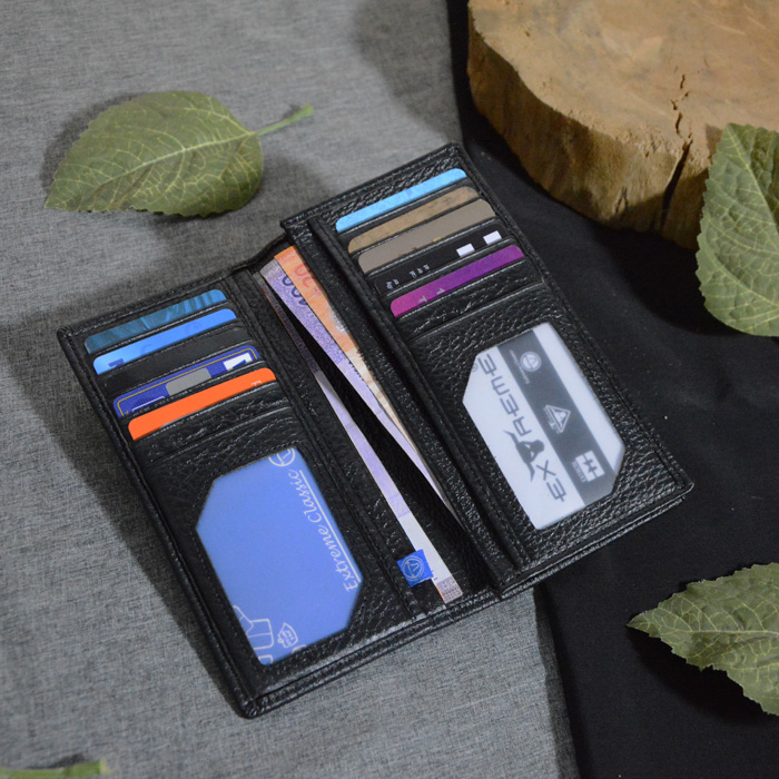 Classic Leather Long Wallet