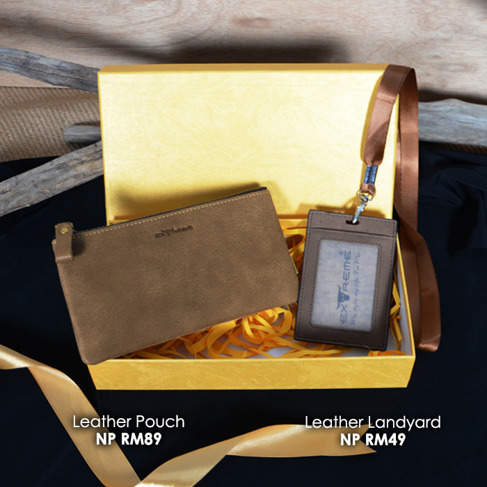 Leather Phone Pouch Gift Set
