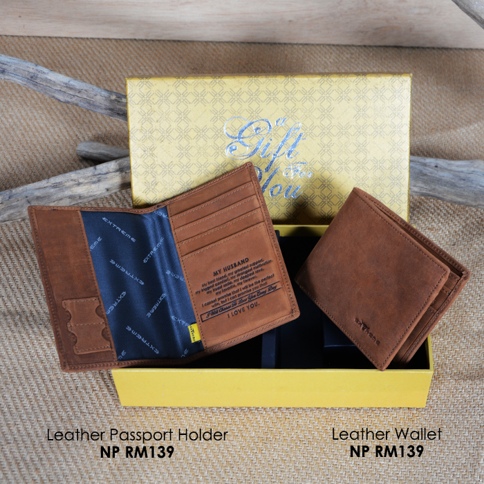 Leather Wallet with Message Gift Set