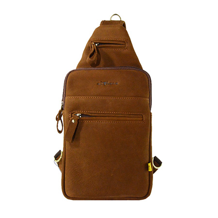 Vintage Leather Single Strap Backpack