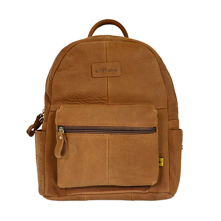 Compact Leather Backpack
