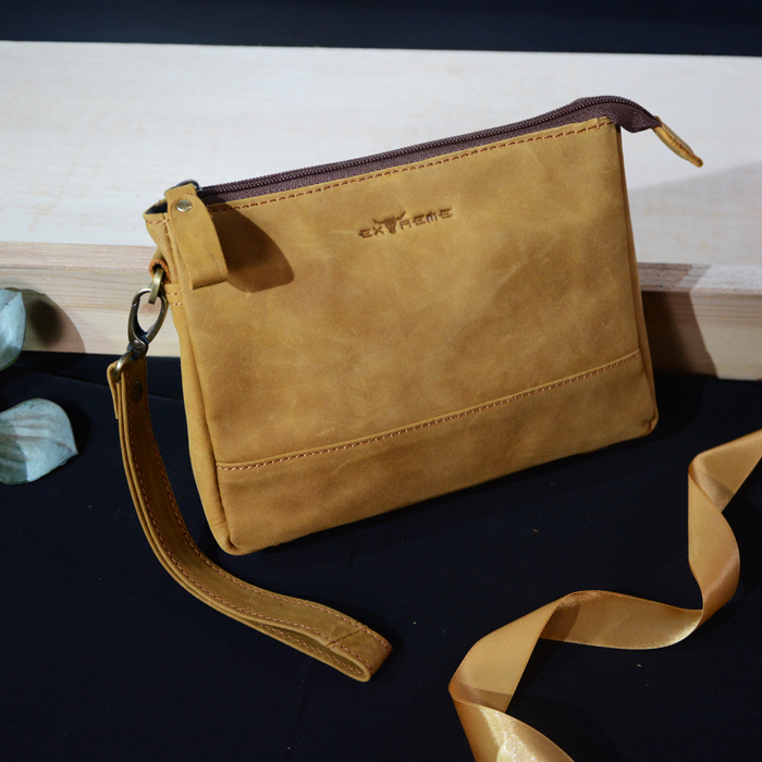 Leather Cluch Bag