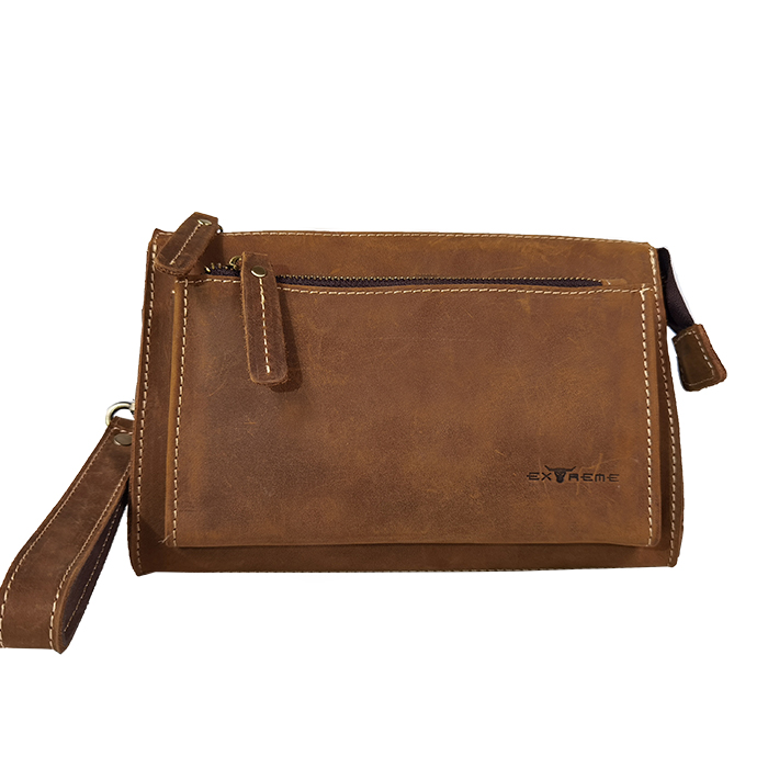 Leather Clutch with Handle