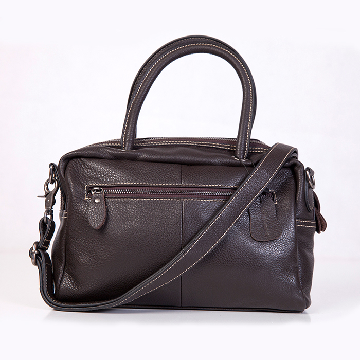 Leather Double Handle Bag