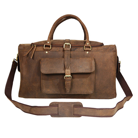 Vintage Leather Duffel Bag