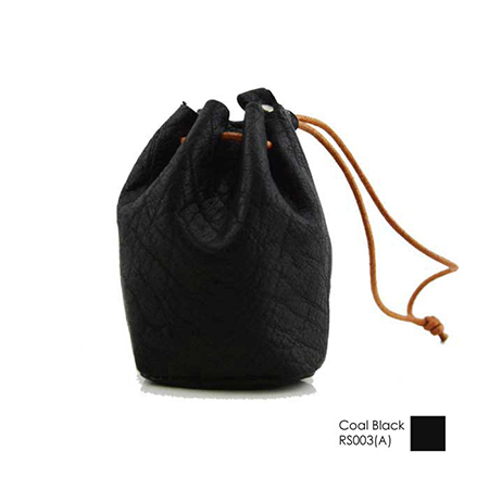 Soft Leather Mini Drawstring Pouch