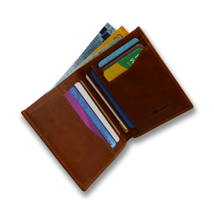 Genuine Leather Bifold Card Wallet
