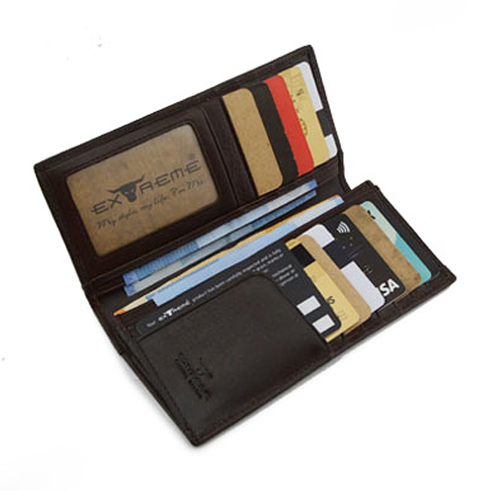 Extreme Genuine Leather Long Bifold Wallet