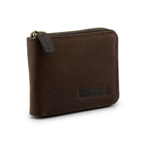 Men Zip around Leather Wallet