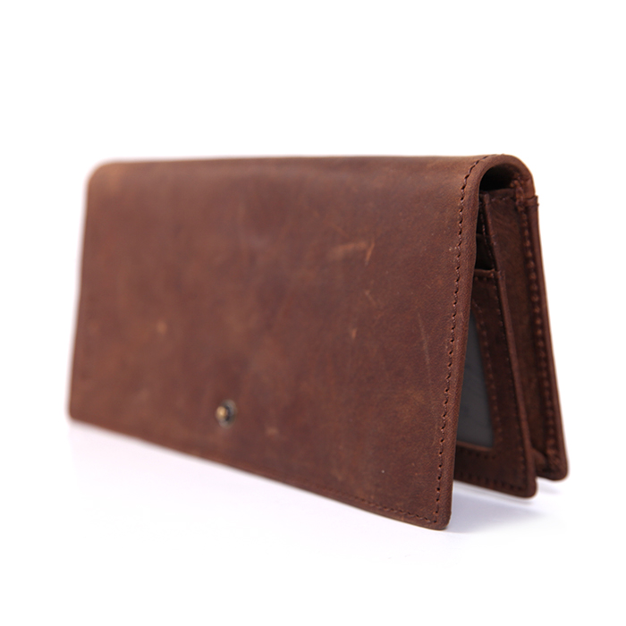 RFID American Leather Long Wallet
