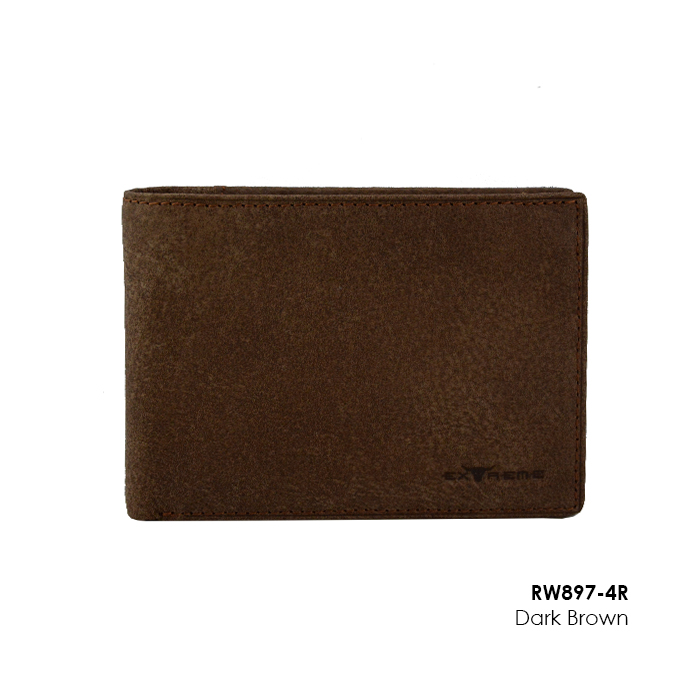 RFID Nubuck Leather Wallet with Mid Flip (H10 x L13.5cm)