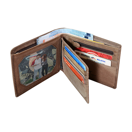 RFID Leather Large Wallet