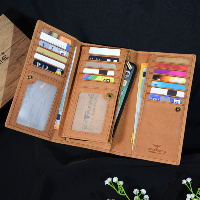 RFID Leather 3 Fold Wallet