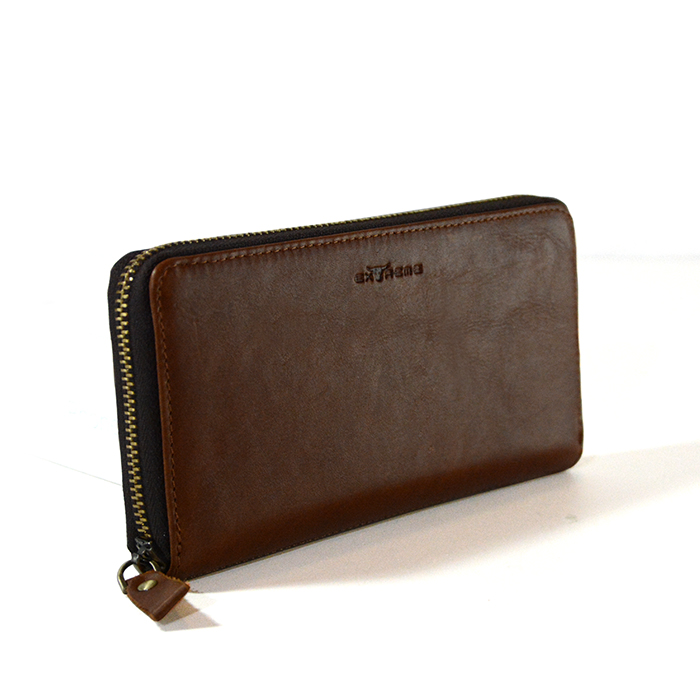 RFID Leather Fullzip Long Wallet
