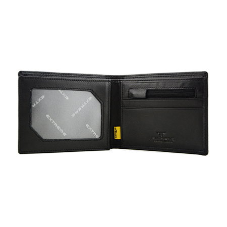 Energy Leather Wallet with RFID Blocking