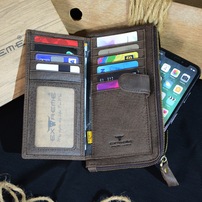 Leather Long Wallet