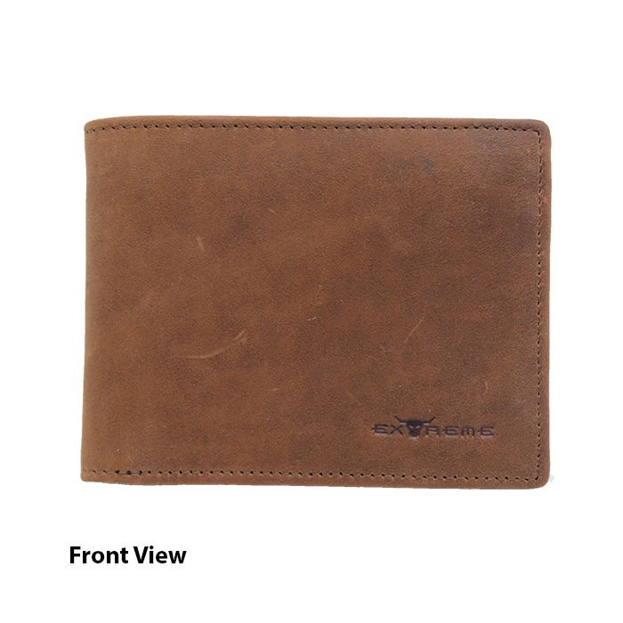 Leather Wallet with Emboss Message