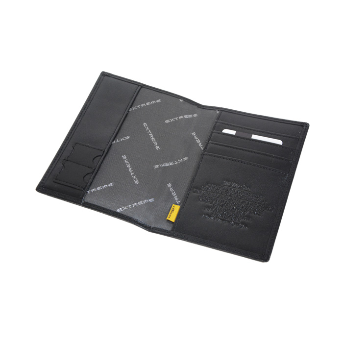 Leather Passport Holder with Emboss Message