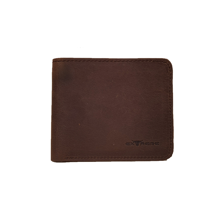 Bifold Full Leather Wallet With Mid Flip (H9.2 X L11cm)