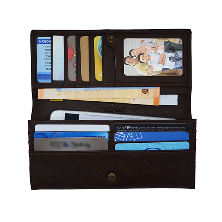 Extreme RFID Leather Bifold Long Wallet