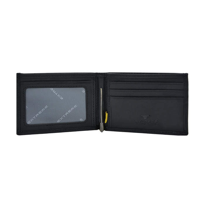 RFID Leather Money Clip Wallet