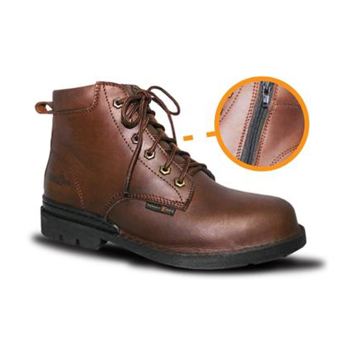 Lace Up with Side Zipper Safety Shoes