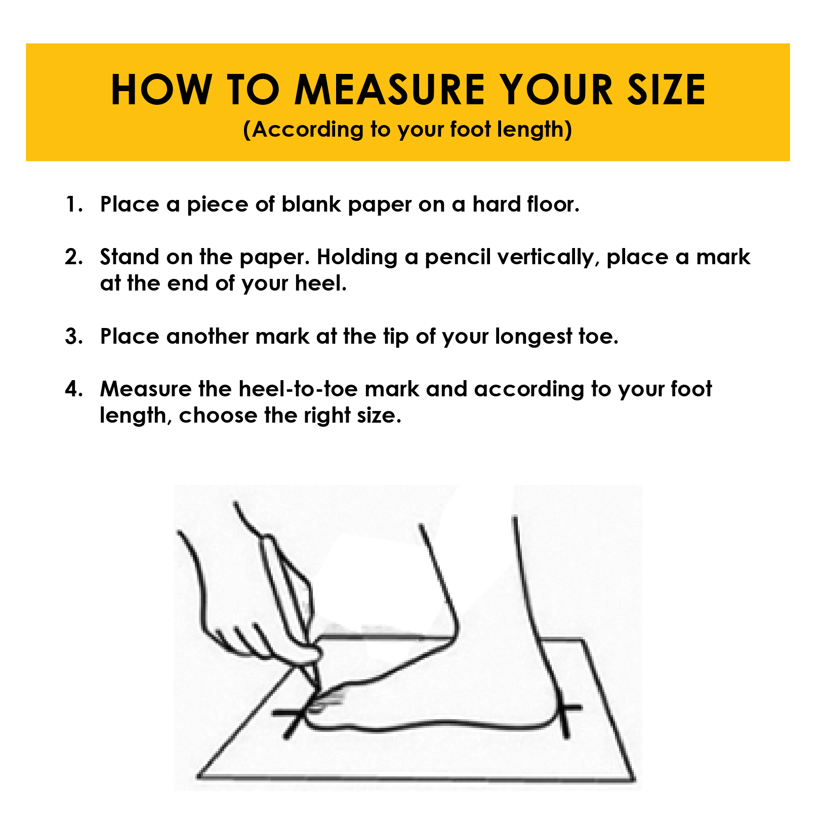 Safety Shoes Measurement and How to Measure